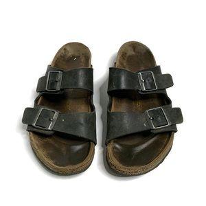 Birkenstock Arizona Black 2 Strap Buckle Sandals